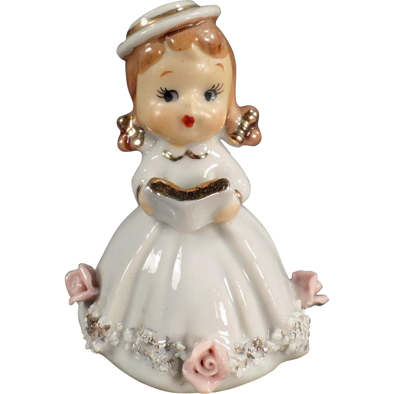 Vintage Porcelain Bell - Small Girl - Lefton