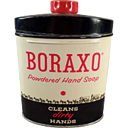 Vintage Boraxo Powdered Hand Soap Tin