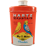 Vintage Hartz Mountain Tin - My-T-Mite for Birds - Nice Graphics
