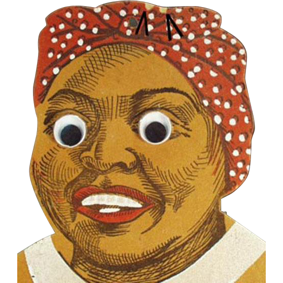 Vintage, Black Mammy, Die-Cut Wall Pocket - Great Expression