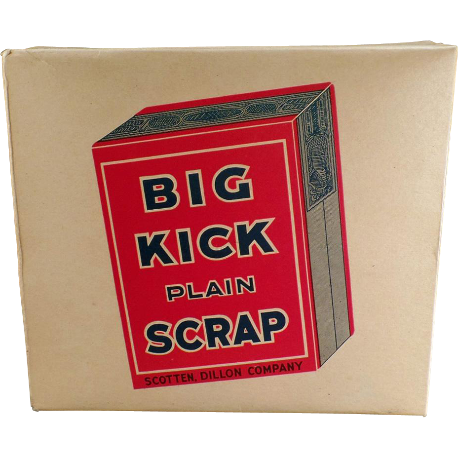 Vintage, Big Kick Tobacco, Display Box