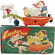 Vintage Easter Toy - Celluloid & Tin Wind-up - Occupied Japan with Box