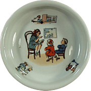 Vintage Baby Plate - Teacher & Geography Lesson - Made in Germany