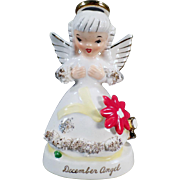 Vintage, December Birthday Angel, Napco Porcelain Figure