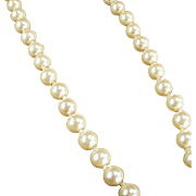 Vintage, Single Strand, Simulated Pearl Necklace - Classic Look