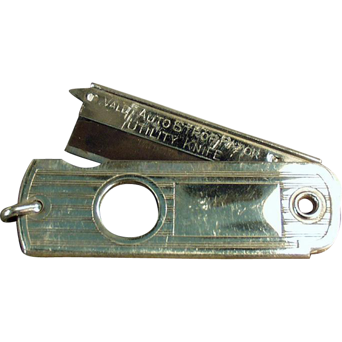 Vintage Valet Auto Strop Watch Fob - Utility Knife / Cigar Cutter