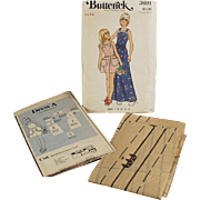 Vintage Butterick #3691 Pattern - Little Girls Pinafore Style Dress - Vintage, Size 14