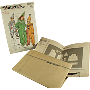 Vintage Halloween Costume Pattern - Clown Outfits - Butterick #6363, Size 12