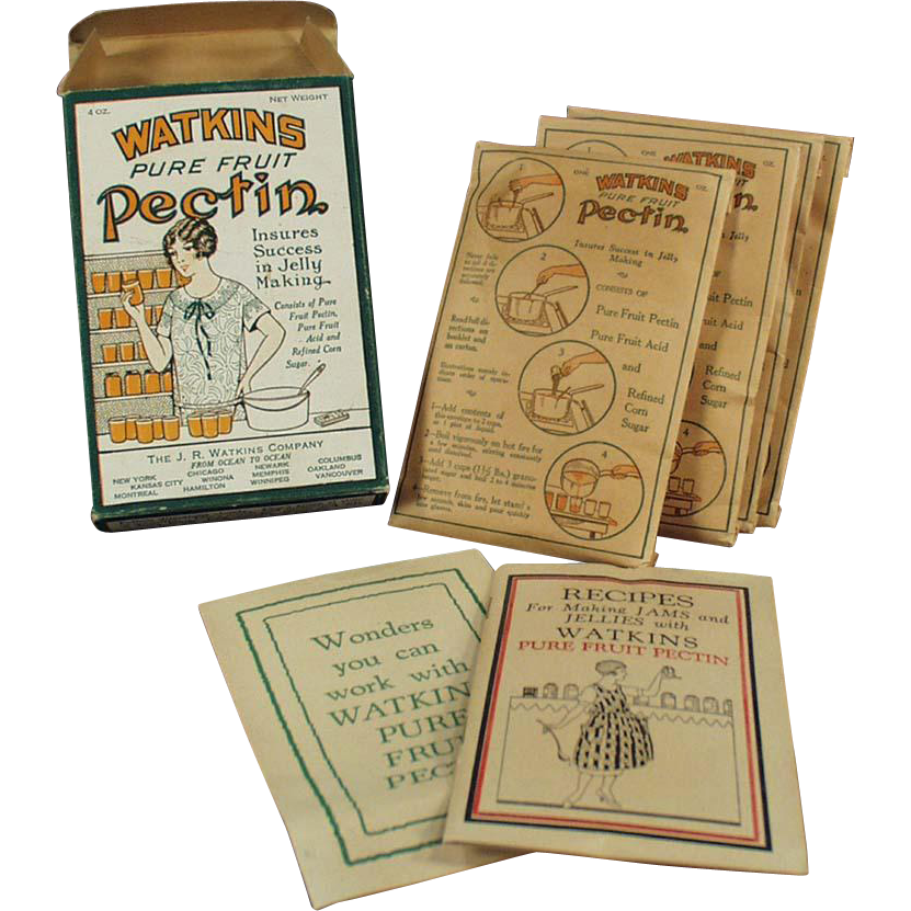 Vintage Watkins Product - Pectin Box with Nice Graphics