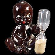 Vintage Egg Timer - Black, Kewpie Like Baby