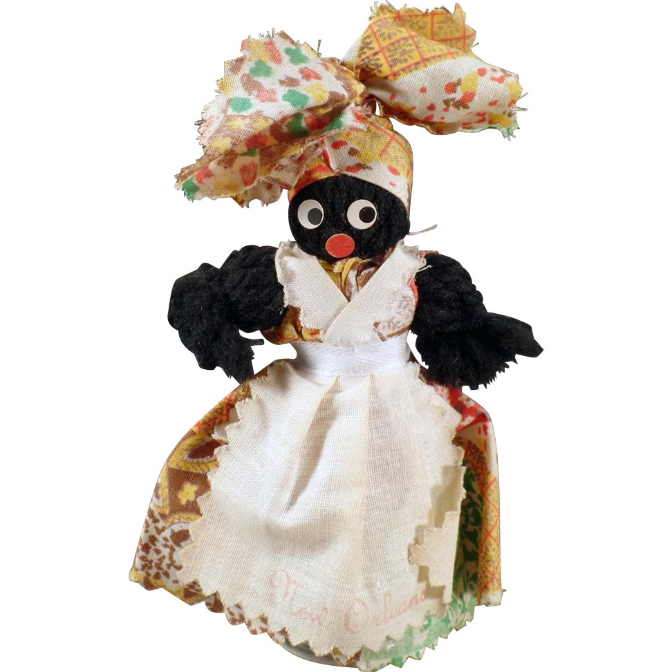 Vintage Souvenir Bell - New Orleans - Black Mammy