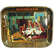 Vintage Advertising, Beer Tray - Early, Budweiser Beer with Colorful Scene