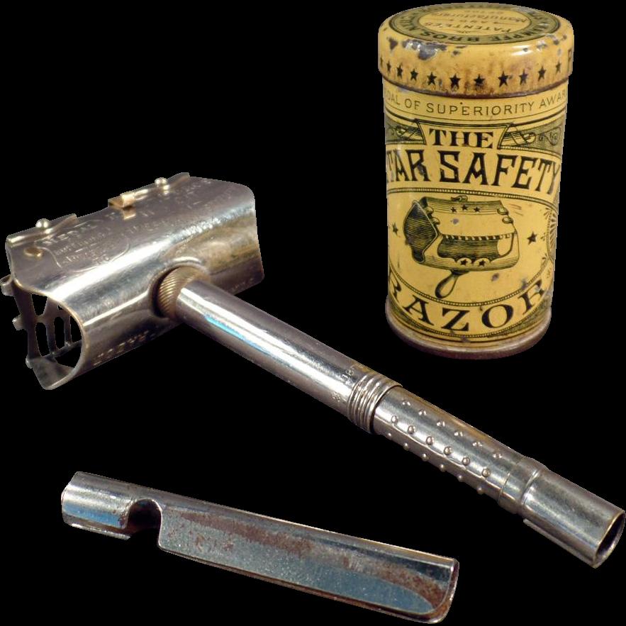 Vintage Star Safety Razor with Original Tin - Kampfe Bros. ca.1880's