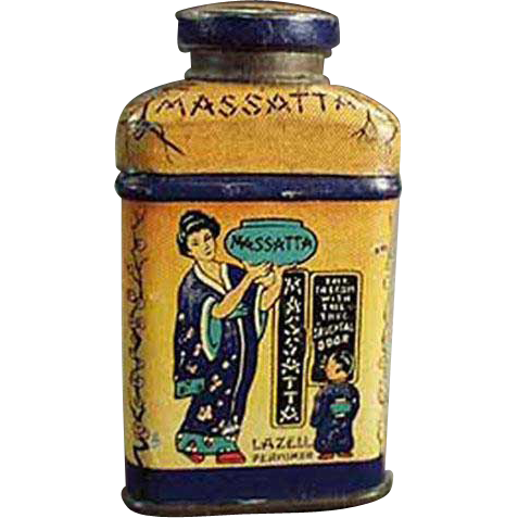Vintage, Sample Talc Tin - Miniature Lazell's Massatta