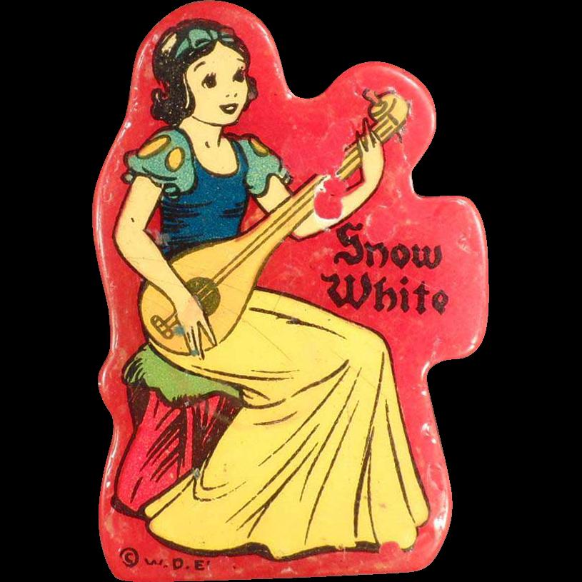 Vintage Pencil Sharpener - Disney's Snow White on Red Catalin