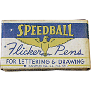 Vintage Speedball, Flicker Pen Nibs with Original Box