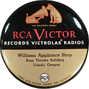 Vintage, Celluloid Record Duster - RCA Victor - Toledo, Oregon