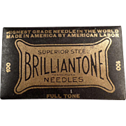 Vintage Phonograph Needles - Brilliantone 100 - Full, Unopened Package