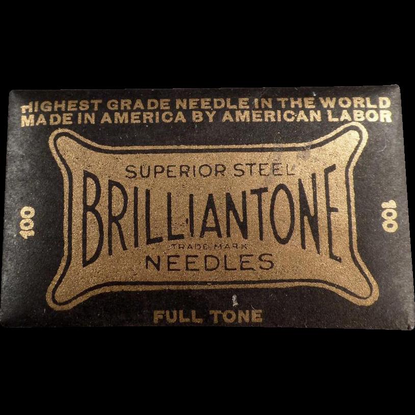 Vintage Phonograph Needles - Brilliantone 100 - Full, Unopened Package