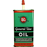 Vintage Whiz, Oil Tin - Colorful Graphics