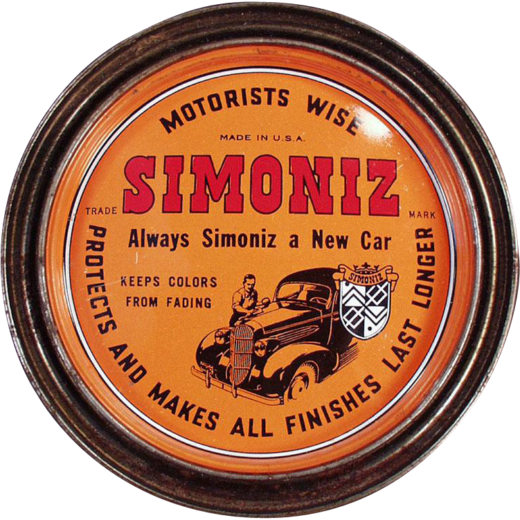 Vintage Simoniz Wax Tin - Automotive and Furniture Wax