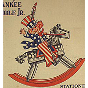 Children's Vintage Stationery - Yankee Doodle with Great Patriotic Graphics