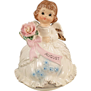 Vintage Birthday Angel Music Box - August