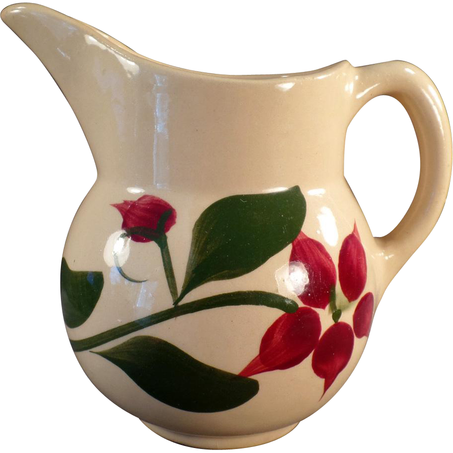 Vintage Watt Pottery - #15 Starflower Creamer