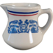 Vintage Restaurant China - Restaurant Antoine Advertising Creamer