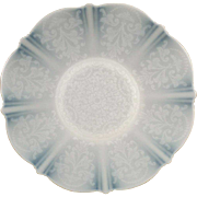 "Vintage, American Sweetheart 10 5/8"" Plate - Monax (White) - Design in Center"