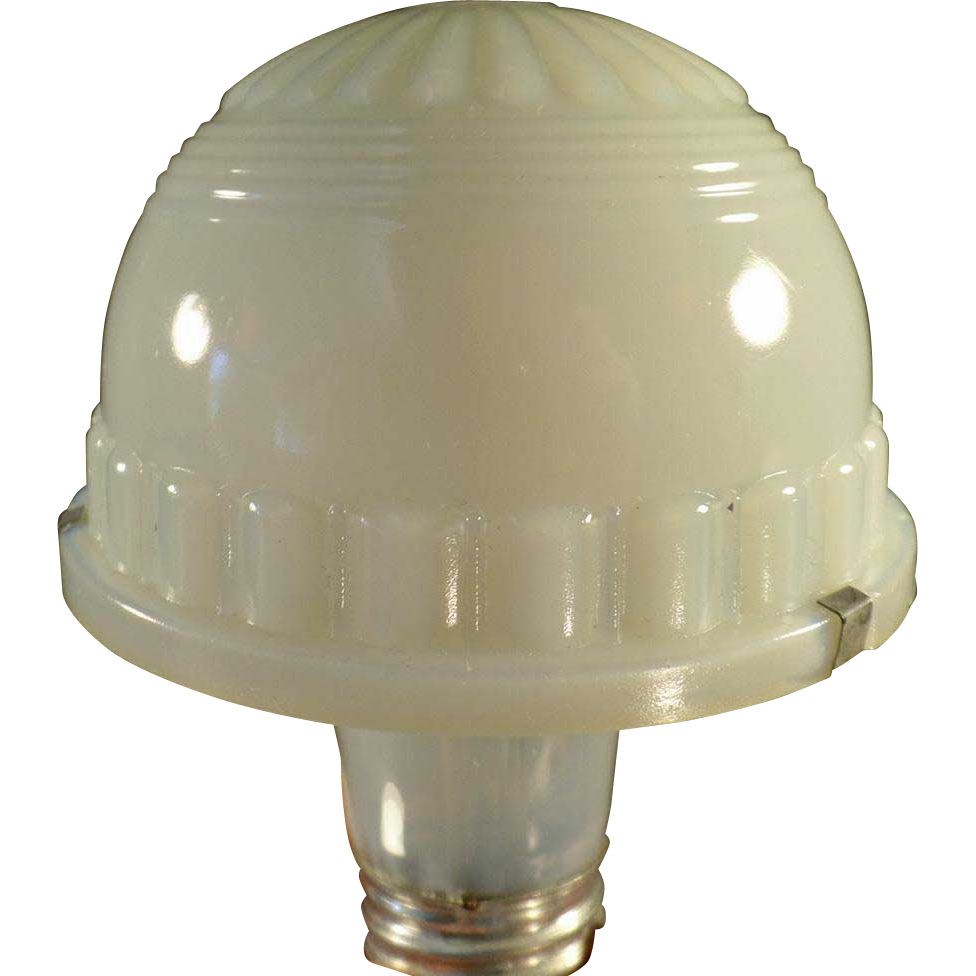 Specialty Lamp Shade - Vintage, Opalescent Custard