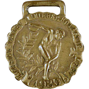 Vintage Track & Field Sports Medal - 1920 Javelin Throw