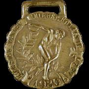 Vintage Track & Field Sports Medal - 1920 Javelin Throw