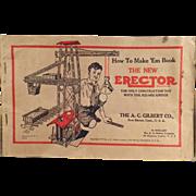 Vintage, A.C. Gilbert, Erector Set Manual - How to Make 'Em Book - 1934