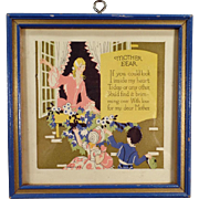 Vintage Motto Print - Mother Dear - Sweet & Colorful