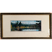 Vintage Hand Tinted Photograph - Grand Lake Colorado by Standley