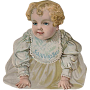 Vintage Advertising Trade Card - Schilling's Best - Die Cut Baby