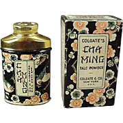 Vintage Sample Talc Tin - Clogate Cha Ming w-Original Box