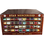 Vintage, Star Spool Cabinet - Metal Display Case
