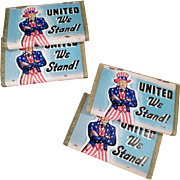 Vintage, United We Stand, Uncle Sam Matchbooks - 4