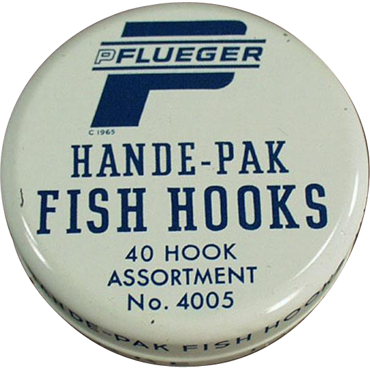Vintage Fish Hook Tin - Pflueger Hande-Pak