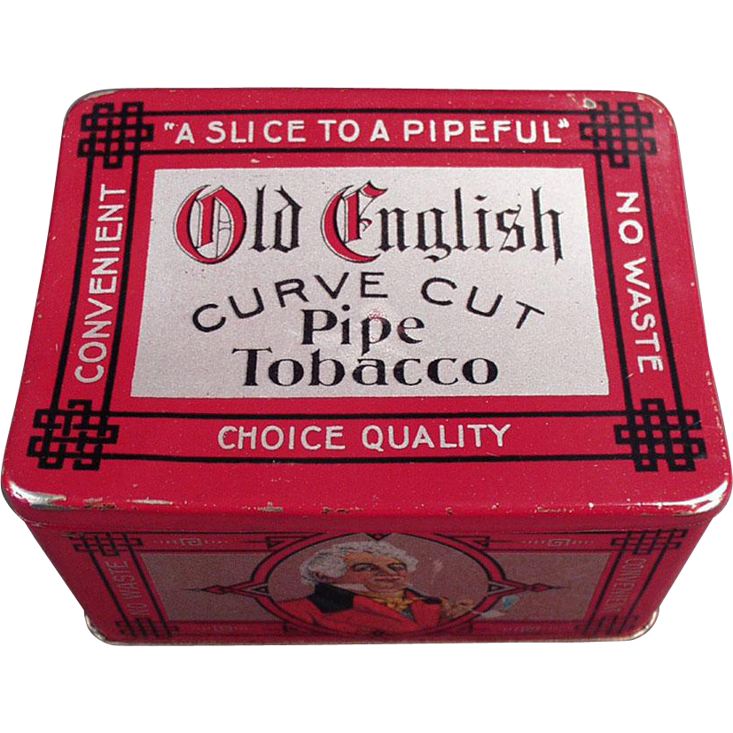 Vintage Tobacco Tin -  Old English Curve Cut with Nice Graphics