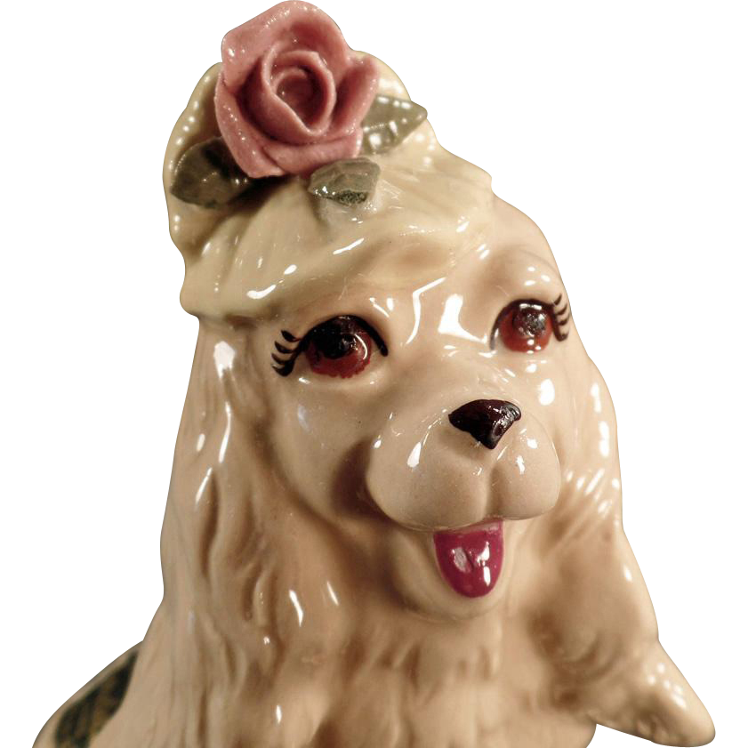 Vintage Dog Figurine - Cocker Spaniel by Cordelia China