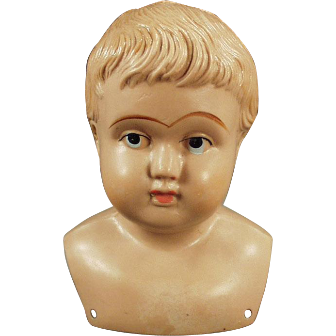 Vintage Celluloid, Shoulder Head Doll - American Mark, Indian Logo