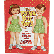 Vintage Paper Dolls - The Polka Dot Tots with Original Clothes and Box