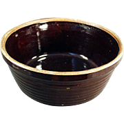 Vintage Stoneware Bowl - U.S.A. - Dark Brown Glaze