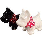 Vintage Salt & Pepper Set - Black & White Scotty Dogs
