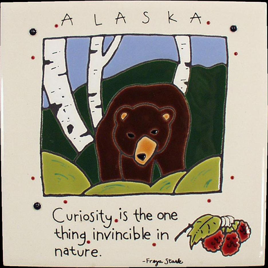 Old Art Tile - Alaskan Bear - Freya Stark - Nice Image
