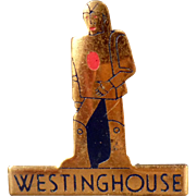 Vintage Westinghouse Advertising Pin featuring Elektro the Robot