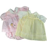 Vintage Baby Clothes - Pink & Yellow